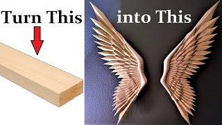 I Carve Wings From Pine 2X4's