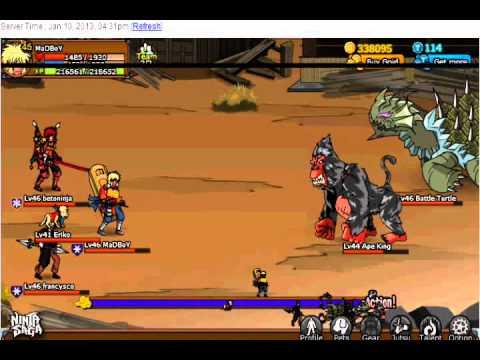 Ninja Saga NS Hunting House Ape King & Battle Turtle.
