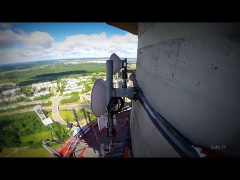 climbing tallest buildings 326,4 m Lithuania Tv tower