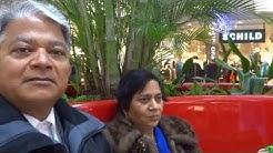 Aruna & Hari Sharma after shopping at Balexert Migros, Geneva, Switzerland Dec 16, 2013