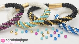 How to Make the Deluxe Beaded Kumihimo Bracelet Kit with Spiral Bicone Focal