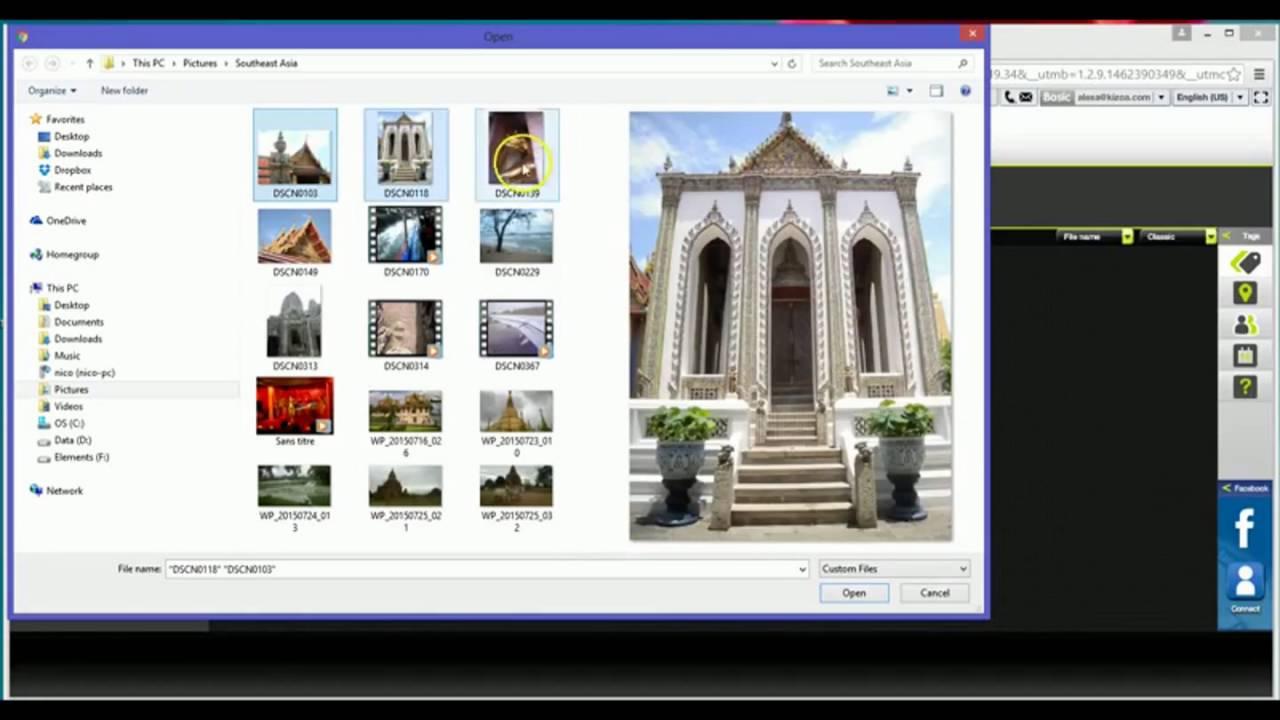 Download How to upload photos to Kizoa - Kizoa Tutorial