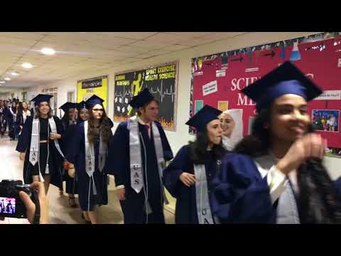Cap and Gown Senior Walk - Universal American School
