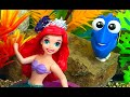 STORY IN THE OCEAN WITH DISNEY PRINCESSE ARIEL, MERMAID FILLY, DORY, MARLIN & ANIMAL PLANET  WHALE