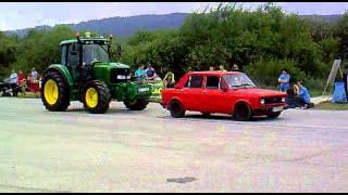 Fiat 128 A ťahá traktor -tuning zraz Rohozná 2011