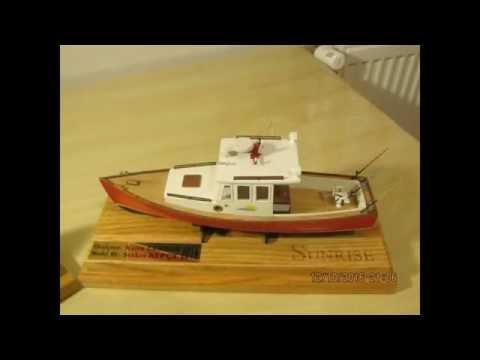 SUNRISE Classic lobster boat Building model kit