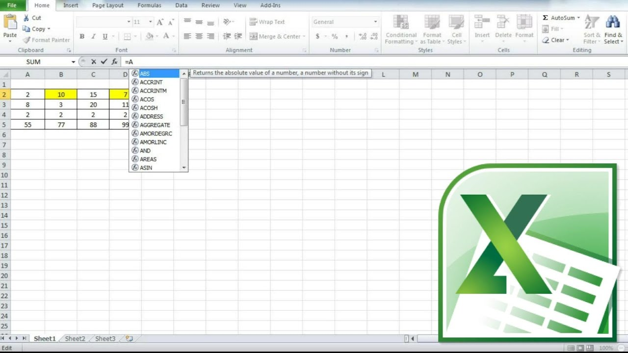 How To Sum Values In A Worksheet Add Cell Values In Excel