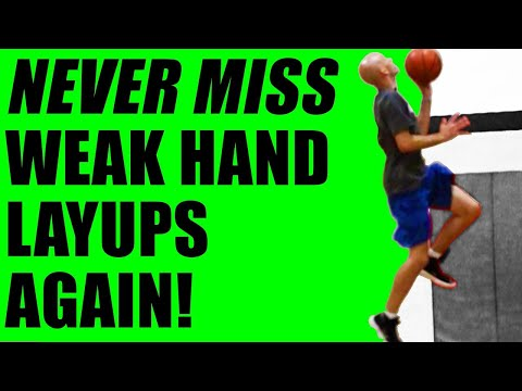 STOP MISSING LEFT HAND LAYUPS! Basketball Drills For Beginners To Advanced!