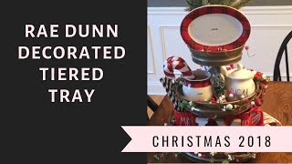 RAE DUNN DECORATED 3 TIERED TRAY//CHRISTMAS HAUL 2018 PART 3🎄//TJMAXX, MICHAELS