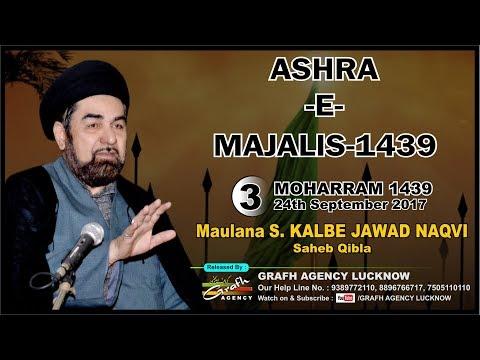 Maulana Kalbe Jawad Naqvi | 3rd Majlis Ashra 1439 2017 | Imambara Ghufraanmaab Lucknow India