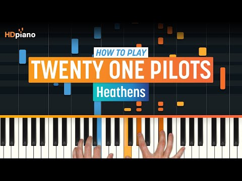"""ALL PARTS FREE – How To Play """"Heathens"""" by Twenty One Pilots   HDpiano (Part 1) Piano Tutorial"""