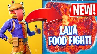 *THE FLOOR IS LAVA* New FOOD FIGHT Game Mode! (Fortnite Battle Royale)