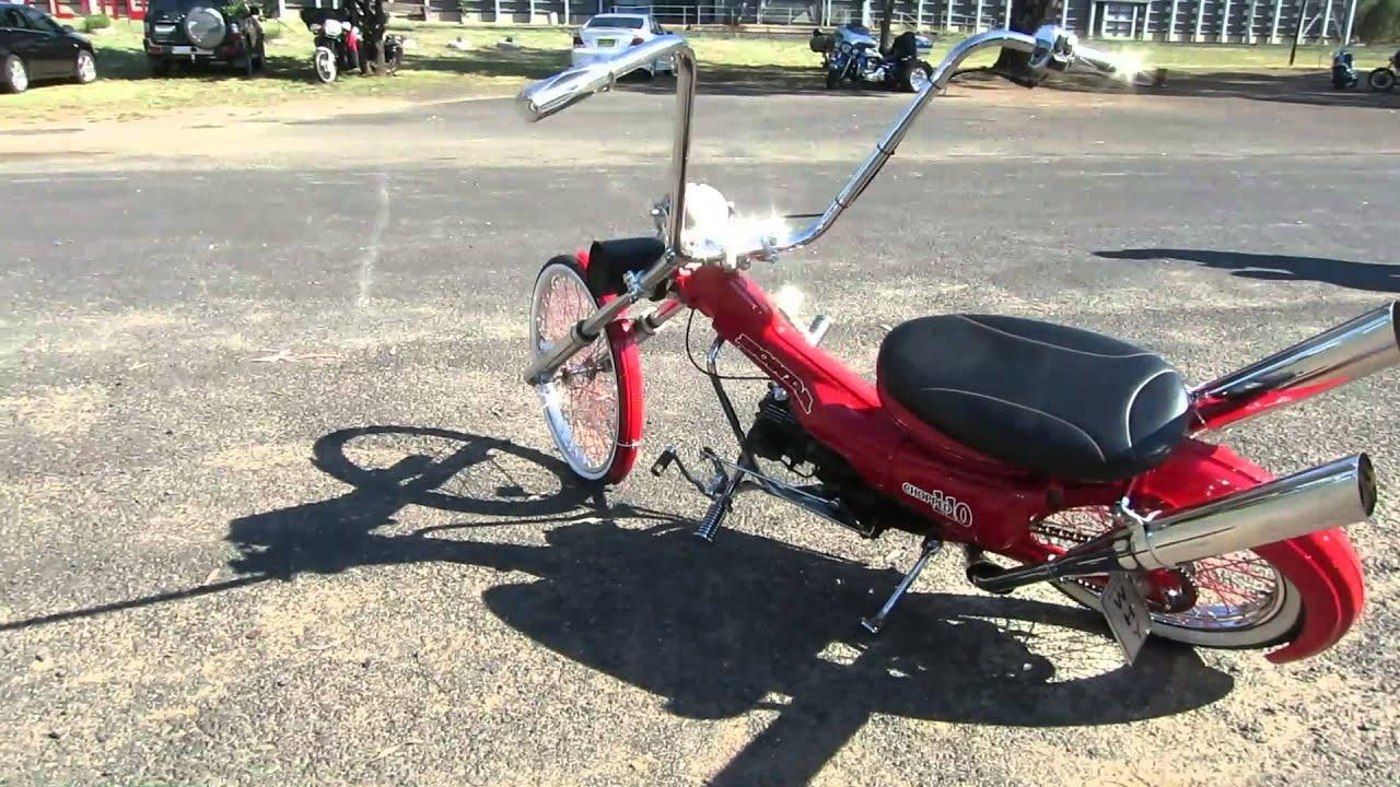 Honda Ct110 Postie Chopper Youtube