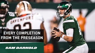 Every Sam Darnold Completion From The Preseason | New York Jets | NFL