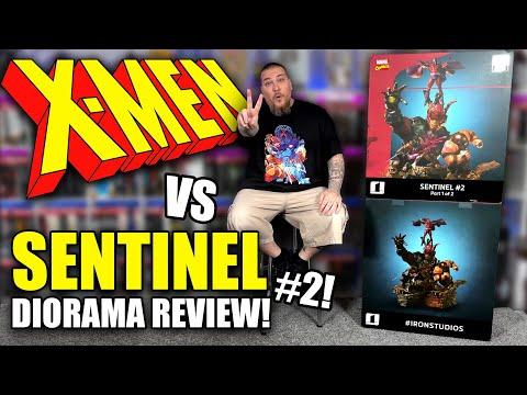 X-MEN Vs Sentinel Diorama (2 Of 3) By Iron Studios! INSANE Statue Unboxing U0026 Review!