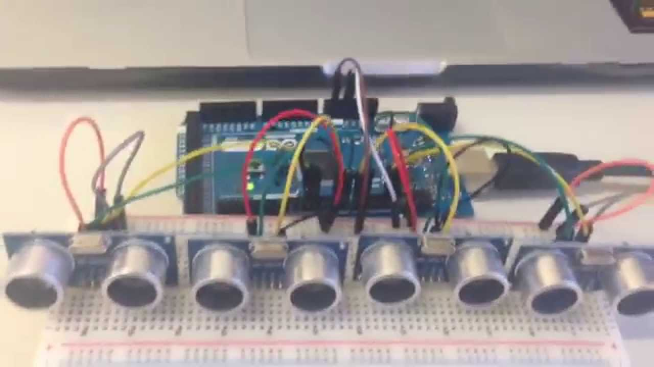 Arduino class for beginners array of multiple ultrasonic