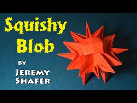 how to make an origami squishy blob by jeremy shafer