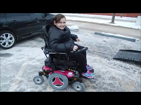 Chloe gets her new power wheelchair!