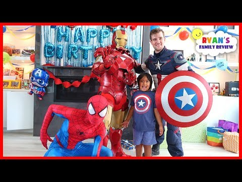 Ryan's SuperHero Birthday Training with Marvel Avengers!!!!