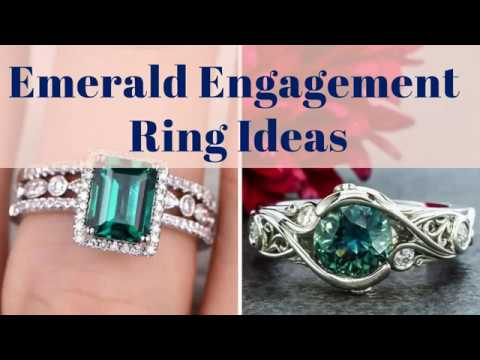 Emerald Engagement Ring Ideas - 100+ Green Emerald Ring on Hand Ideas