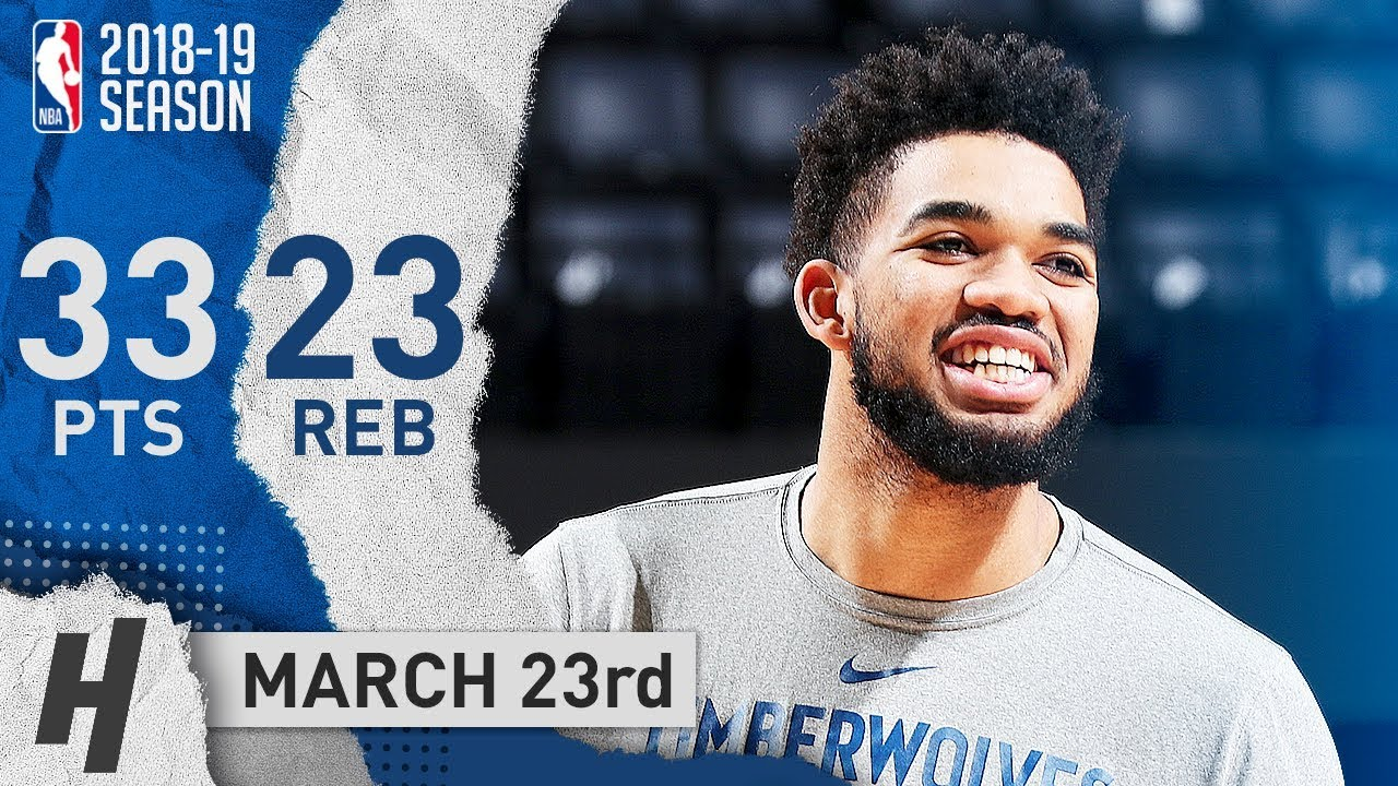 Karl-Anthony Towns Full Highlights Wolves vs Grizzlies 2019.03.23 - 33 Points, 23 Reb