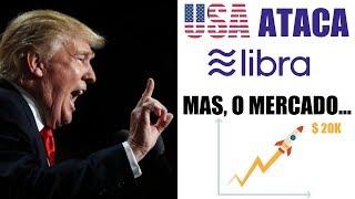 EUA atacam Facebook e BITCOIN, mas o mercado sobe! Governos em pânico!