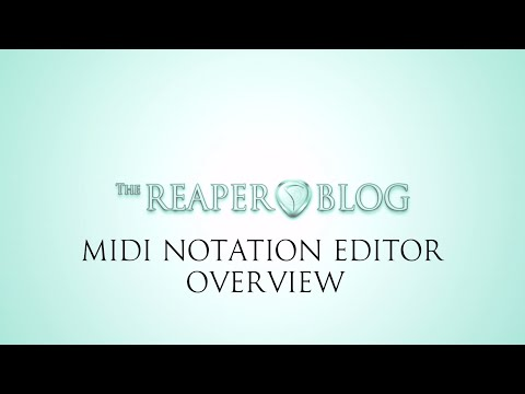 MIDI Notation Editor Overview