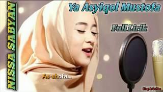 Ya Asyiqol Mustofa By Nissa Sabyan || Full Lirik || Top Trending Sholawat 2018