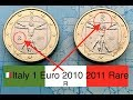 Gambar cover 🇮🇹Italy 1 Euro 2010,2011 RARE euro coins {R}