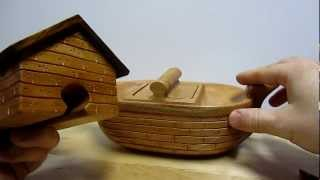 Handcrafted Noah's Ark Puzzle Box From Heartwood Gifts