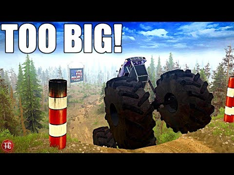 SpinTires MudRunner: BIGGEST TRUCK IN THE GAME vs NEW Truck Night Course! |