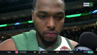 Sterling Brown on Bucks' Game 1 win over Pistons