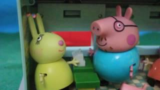 Мультфильм игрушками Свинка Пиги Pig.  Покупки к школе.