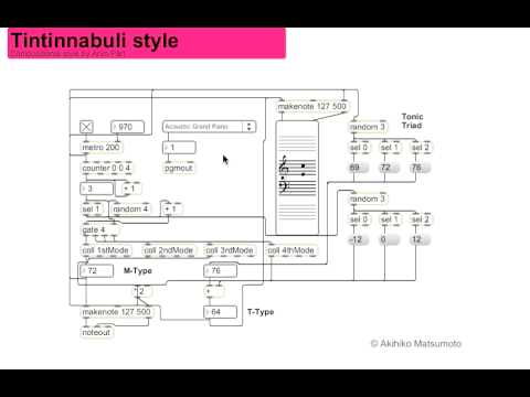 Arvo Pärt Style Max/MSP Algorithmic Composition