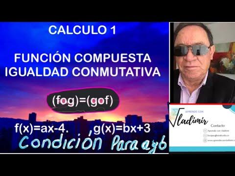 FUNCION COMPUESTA,IGUALDAD CONMUTATIVA
