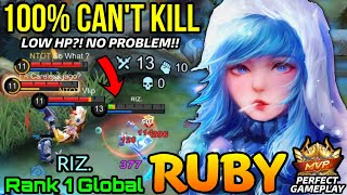 You Can't Kill Me!! Ruby the Queen of LifeSteal is UNKILLABLE!! - Top 1 Global Ruby ʀιz. - MLBB