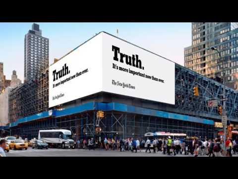 Thumbnail: 'The truth is hard': The New York Times releases TV ad to screen during Oscar Awards