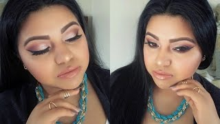 soft copper makeup   bh cosmetics smokey eyes palette