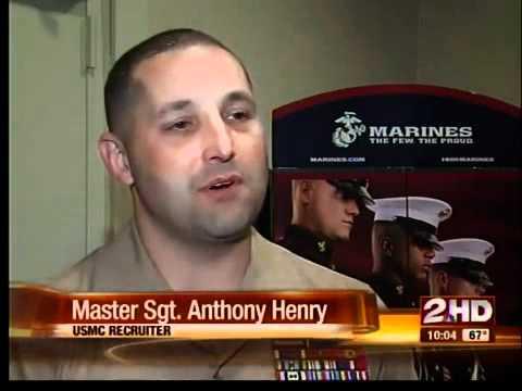 Marine recruit at Tulsa's Equality Center