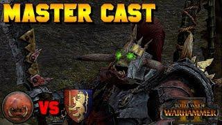 Master Cast: Tlaxtlan Soothsayer (Greenskins) vs. Gobbo King (Bretonnia) | Total War: Warhammer 2