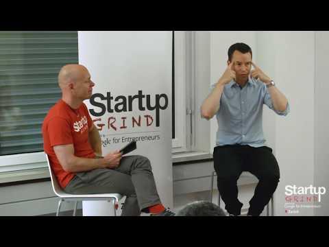 Markus Bucheli (LikeMag) at Startup Grind Zurich w/ David Butler
