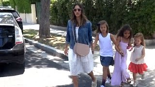 Jessica Alba And Her Girls Hit A Birthday Party