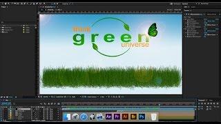 Crear imagen Animada en after effects CC   Dibujar hierba y mariposas
