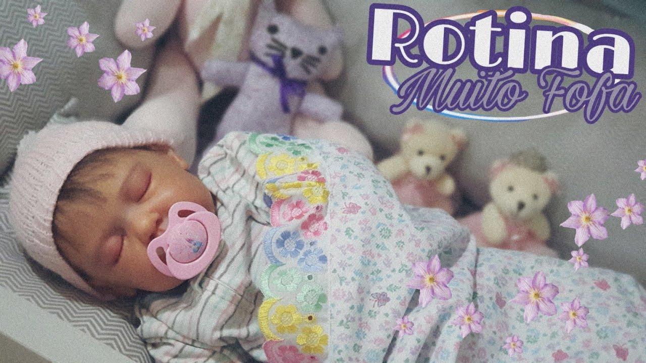 ROTINA MUITO FOFA DA BABY REBORN MARIA CRISTINA