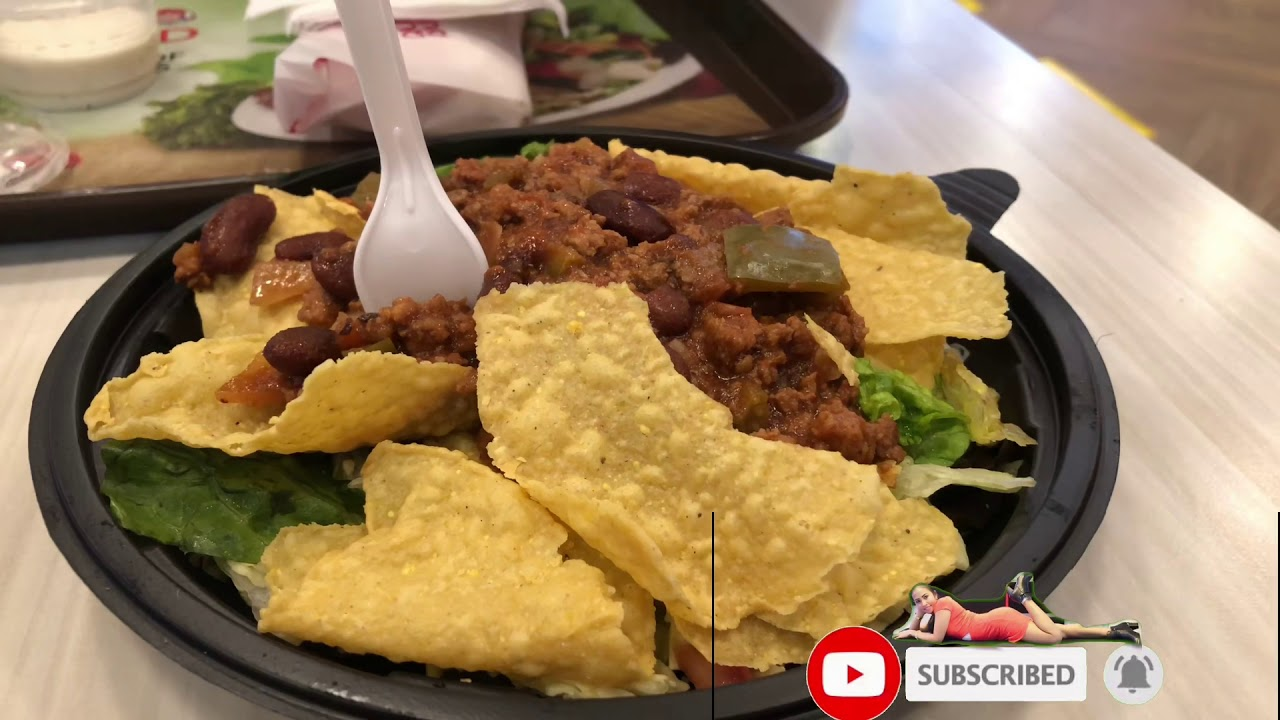 FIRST TIME TRYING TACO SALAD AT WENDYS  THE NEW TACO SALAD AT WENDYS MUST TRY Filipina Indian Couple