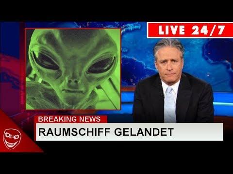 Gruselige TV-Unterbrechung! Mann berichtet weinend, dass Außerirdische gelandet sind!