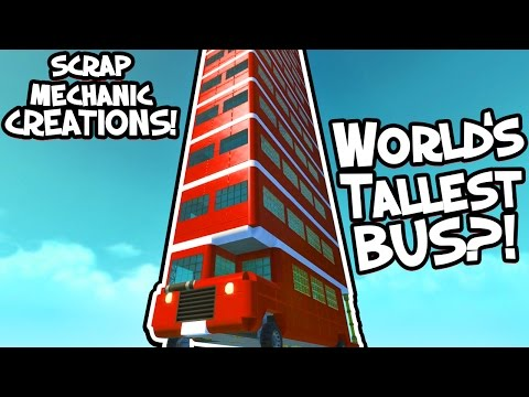 Scrap Mechanic CREATIONS! - CRAZY PUBLIC TRANSPORT!! [#18] W/AshDubh | Gameplay |