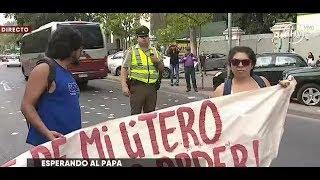 Se registraron protestas en Plaza Italia por visita del Papa - CHV NOTICIAS