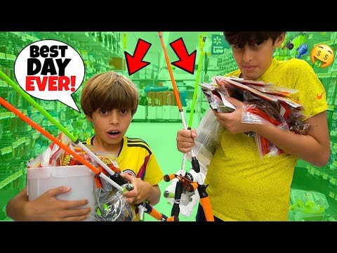 Buying EVERYTHING They TOUCH In FISHING AISLE!! (SUBSCRIBERS)