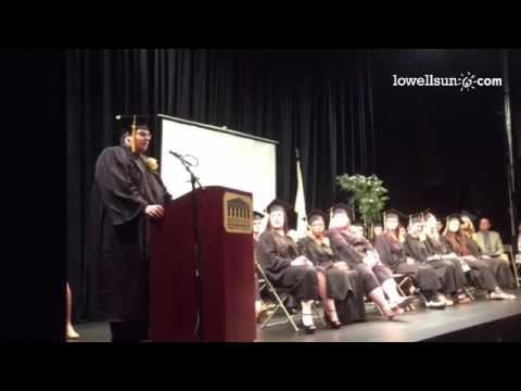 Video: Lowell Middlesex Academy Charter School grad Kevin Brown gives opening remarks at graduation